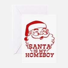 Santa Is My Homeboy Greeting Cards (Pk of 10)