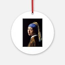 Artzsake Vermeer Ornament (Round)