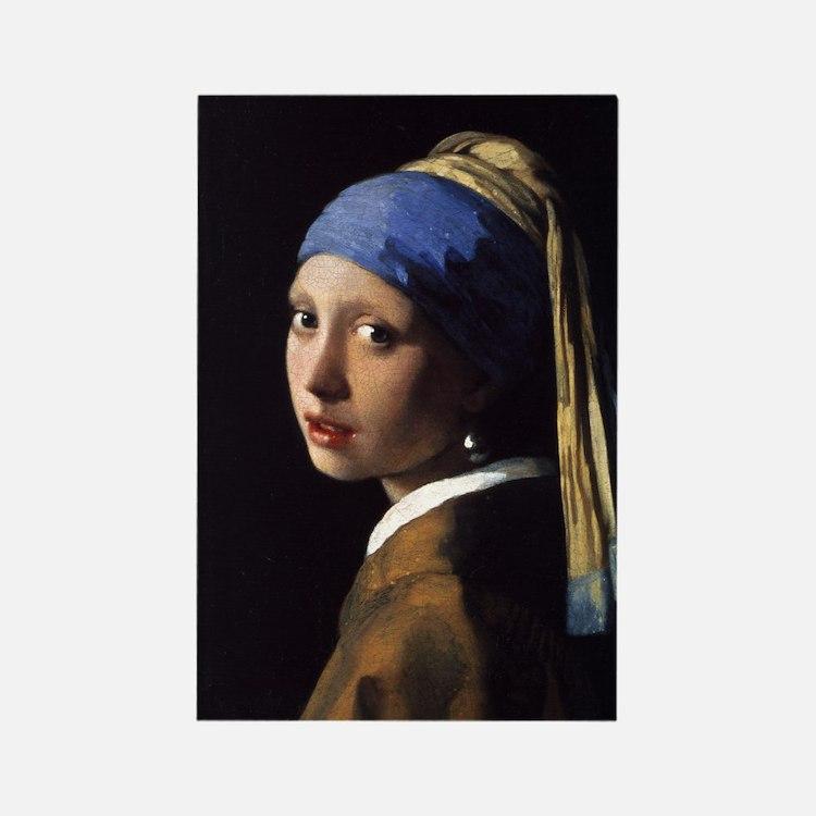 Artzsake Vermeer Rectangle Magnet