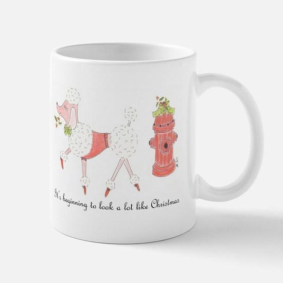Christmas Poodle Mug