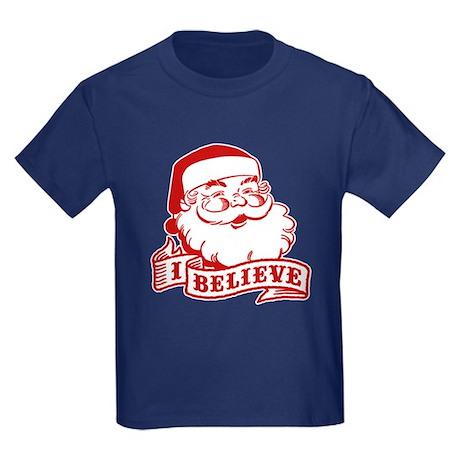 I Believe Santa Kids Dark T-Shirt