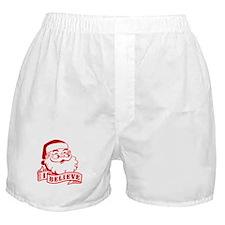 I Believe Santa Boxer Shorts