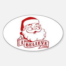 I Believe Santa Decal
