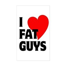 I Love Fat Guys Decal