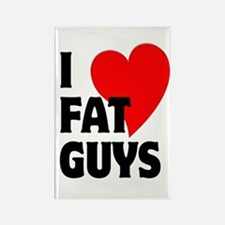 I Love Fat Guys Rectangle Magnet (10 pack)