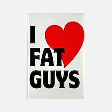 I Love Fat Guys Rectangle Magnet