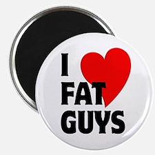 """I Love Fat Guys 2.25"""" Magnet (100 pack)"""