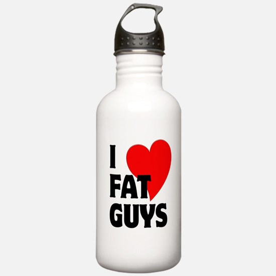 I Love Fat Guys Water Bottle