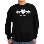 Heart Tug White-blk Sweatshirt (dark)