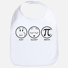 Eat Sleep Math Bib