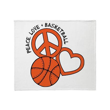 Peace, Love, Basketball Throw Blanket