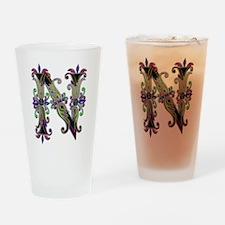 Nobel Yet Natural Letter N Drinking Glass