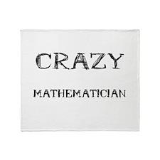 Crazy Mathematician Throw Blanket