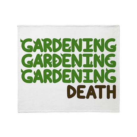 Gardening Throw Blanket