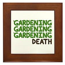 Gardening Framed Tile