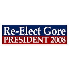 Re-Elect Gore 2008 bumper sticker