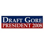 Draft Gore for President bumper sticker