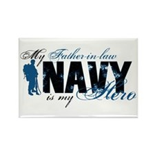 Father Law Hero3 - Navy Rectangle Magnet