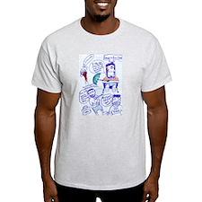 Steve-O Umbrella Comic Ash Grey T-Shirt