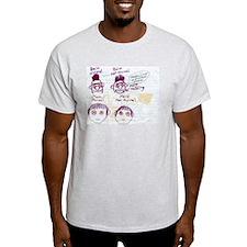 Steve-O Matt and Bain Comic Ash Grey T-Shirt