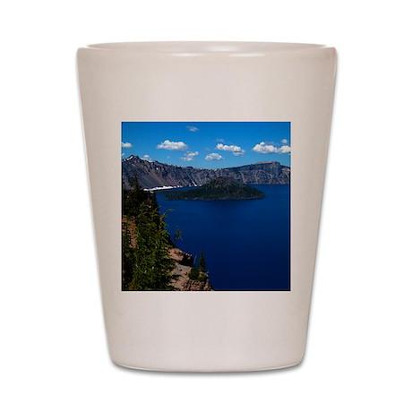 Crater Lake Wizard Island Shot Glass