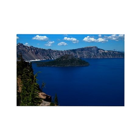 Crater Lake Wizard Island Rectangle Magnet (10 pac