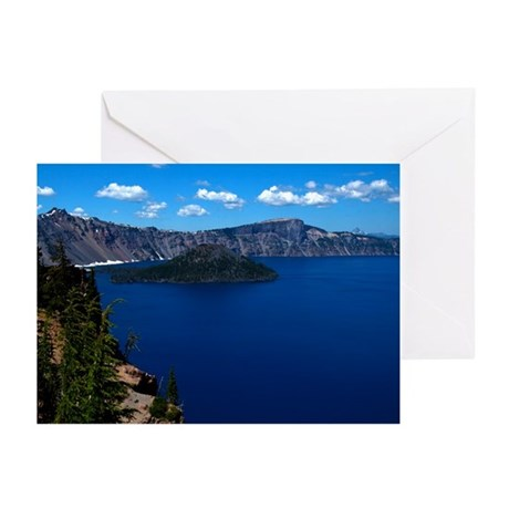 Crater Lake Wizard Island Greeting Cards (Pk of 10