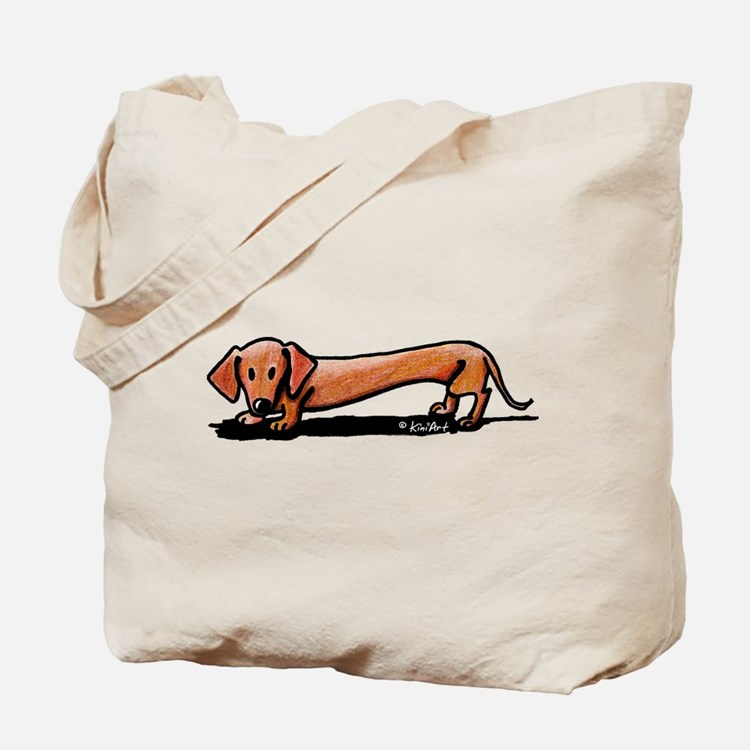Lil' Red Dachsie Tote Bag