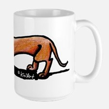 Lil' Red Dachsie Large Mug
