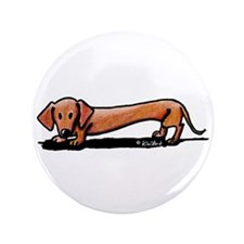 "Lil' Red Dachsie 3.5"" Button"