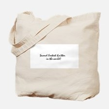 second fastest knitter Tote Bag