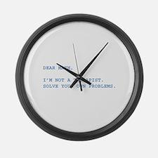 Dear Math Large Wall Clock