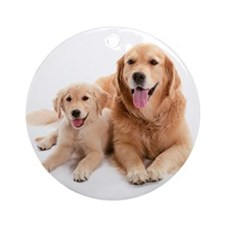 Golden retriever buddies Ornament (Round)