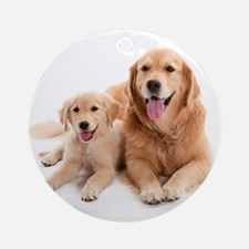 Golden retriever buddies Ornament (Round)