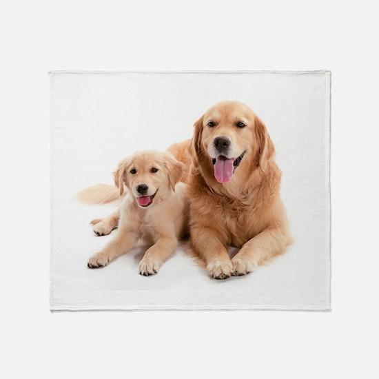 Golden retriever buddies Throw Blanket