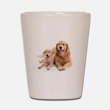 Golden retriever buddies Shot Glass