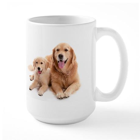 Golden retriever buddies Large Mug