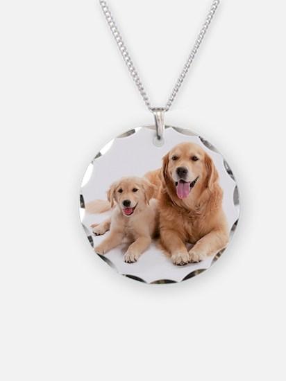 Golden retriever buddies Necklace Circle Charm