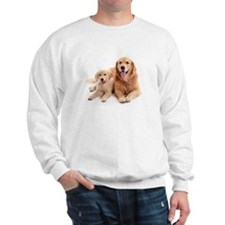 Golden retriever buddies Sweatshirt