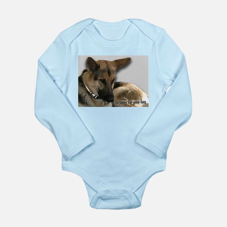 German Shepherd Sympathy Card Long Sleeve Infant B