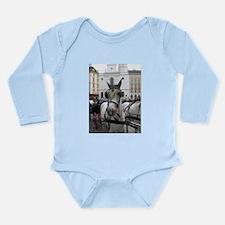 Viennese Cart Horse Long Sleeve Infant Bodysuit