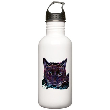 Glowing Cat Stainless Water Bottle 1.0L
