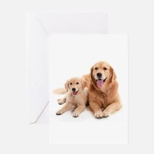 Golden retriever buddies Greeting Card
