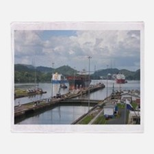 Panama: Miraflores Locks at t Throw Blanket