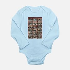 Budapest Bench Story Long Sleeve Infant Bodysuit