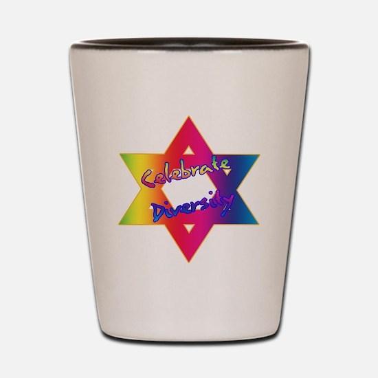 Celebrate Diversity Jewish St Shot Glass