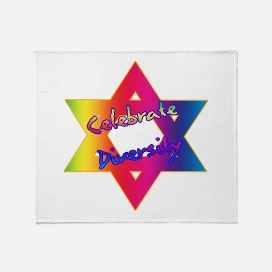 Celebrate Diversity Jewish St Throw Blanket
