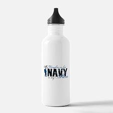 Daughter Law Hero3 - Navy Water Bottle