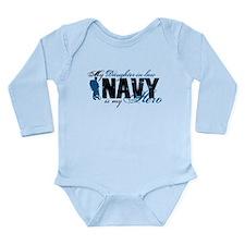 Daughter Law Hero3 - Navy Long Sleeve Infant Bodys