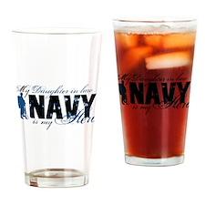 Daughter Law Hero3 - Navy Drinking Glass